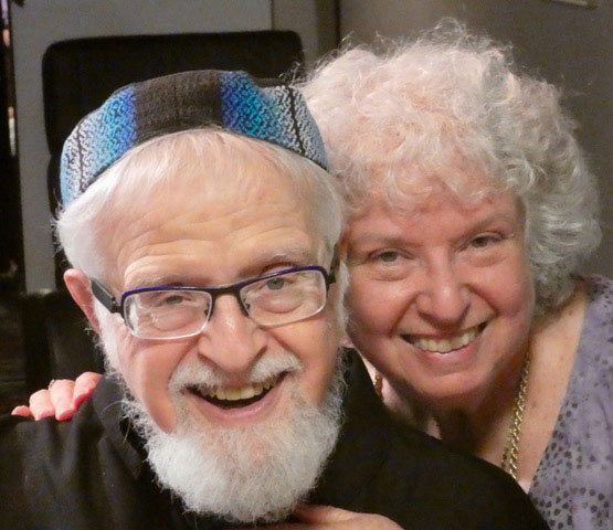 Bahira Sugarman and Rabbi Shaya Isenberg