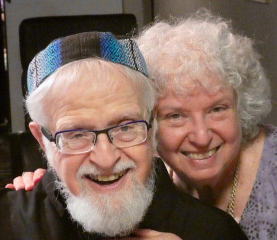 Bahira Sugarman and Rabbi Shaya Isenberg